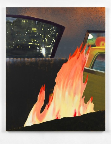 Dexter Dalwood, Fire in a Limo, 2018 , Simon Lee Gallery