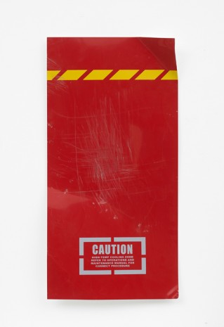 Oliver Payne, Untitled (caution red), 2018 , Herald St