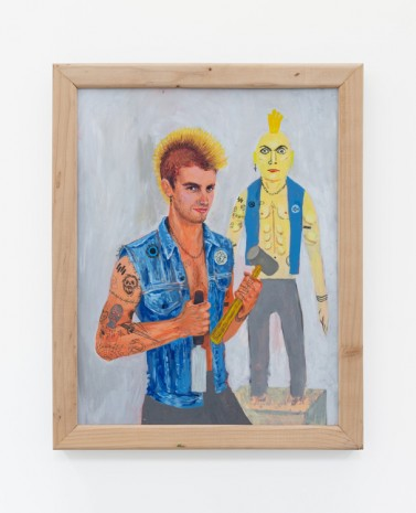 Trulee Hall, Sexy Self Portraits (Punk Male Version), 2018, Maccarone