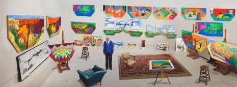 David Hockney, In the Studio, December 2017, 2017, Galerie Lelong & Co.