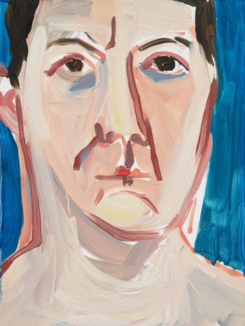 Chantal Joffe, Self-Portrait, December, 2018, Victoria Miro Gallery