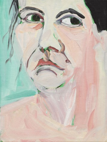 Chantal Joffe, Self-Portrait I, October, 2018 , Victoria Miro Gallery