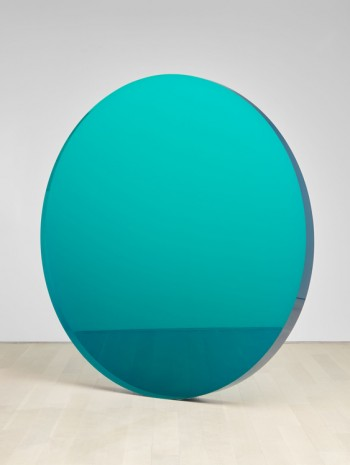 De Wain Valentine, Circle Blue Green, 1972, casted in 2019 , Almine Rech