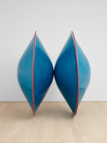 De Wain Valentine, Double disk (blue with red edge), 1966, painted in 2019 , Almine Rech