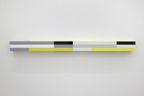 Liam Gillick, Rescinded Wall Unit (Yellow), 2012, Casey Kaplan