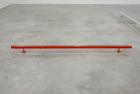 Liam Gillick, Singular Roundrail (Red), 2012, Casey Kaplan