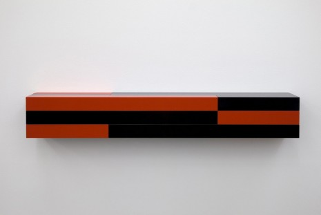 Liam Gillick, Resistant Wall Unit (Red, Black), 2012, Casey Kaplan