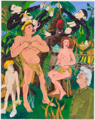 Robert Colescott, Out of Africa, 1971 , Blum & Poe