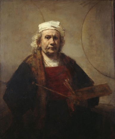 Rembrandt van Rijn, Self-Portrait with Two Circles, c. 1665, Gagosian