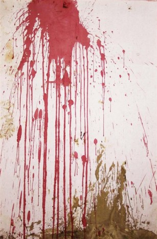 Hermann Nitsch, Relic from the 122nd action, Burgtheater 2005, showered, 2005 - 2013 , Galerie Elisabeth & Klaus Thoman