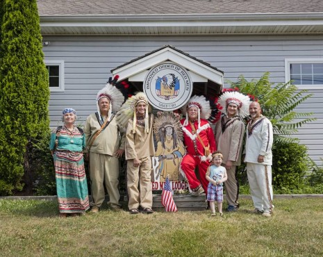 Andrea Robbins and Max Becher, Improved Order of Red Men, Group Portrait, Tuckerton, New Jersey, 2017 , Sprüth Magers