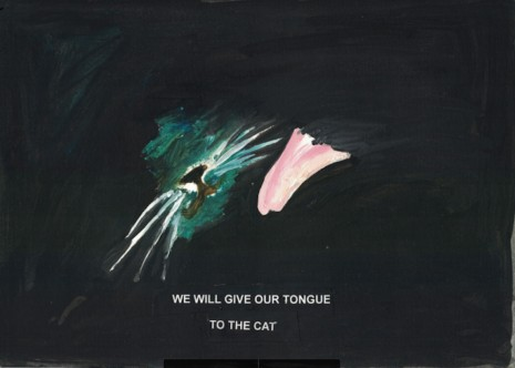 Laure Prouvost, We will give our tongue to the cat, 2018 , Galerie Nathalie Obadia