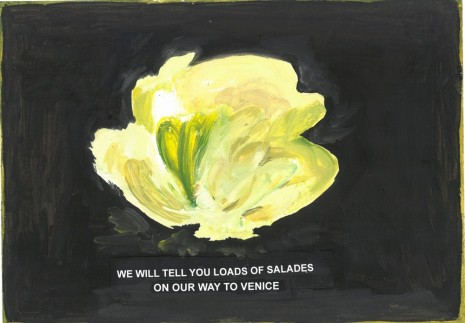 Laure Prouvost, We will tell you loads of Salades on our way to Venice, 2018 , Galerie Nathalie Obadia