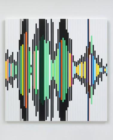 Sarah Morris, Reality is its own Ideology [Sound Graph], 2019 , White Cube