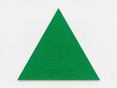 Jennifer Guidi, Heart Chakra (Yellow and Light Green #1PT, Green Sand SF #7T, Lavender Ground), 2019, Massimo De Carlo