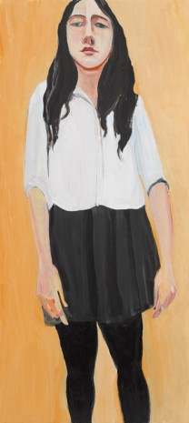 Chantal Joffe, Esme in Her School Uniform, 2019 , Victoria Miro