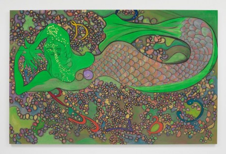 Chris Ofili, Calypso (Green), 2019, David Zwirner