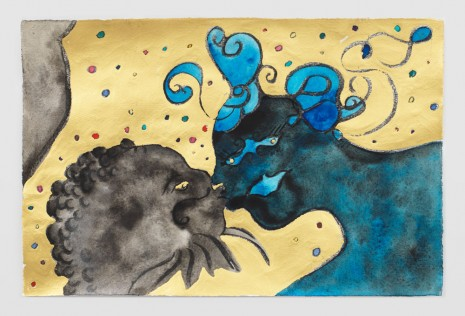 Chris Ofili, Kiss (Blue), 2019 , David Zwirner