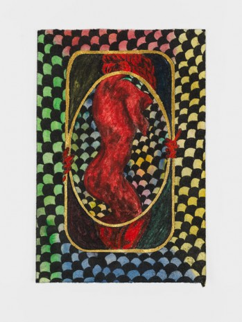 Chris Ofili, Dangerous Liaisons Red 1, 2019 , David Zwirner
