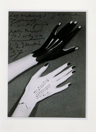 Man Ray, Hands of Yvonne Zervos painted by Pablo Picasso, 1937 , Hauser & Wirth