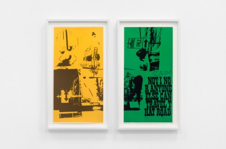 Corita Kent, road signs (part 1 and 2), 1969 , Andrew Kreps Gallery