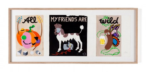 Kati Heck, Festplakat (All my friends are wild), 2019 , Tim Van Laere Gallery