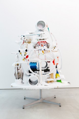 Teppei Kaneuji, White Discharge (Built-up Objects) #48, 2019 , Blum & Poe