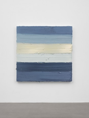 Jason Martin, Untitled (Zinc white / Royal blue light / French graphite grey), 2019 , Lisson Gallery