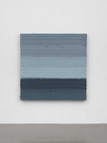 Jason Martin, Untitled (Titanium white / Prussian blue / Scheveningen black), 2018 , Lisson Gallery