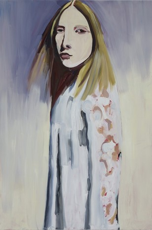 Chantal Joffe, BLONDE IN A LACE COAT , 2012, Cheim & Read