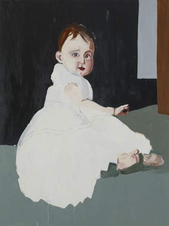 Chantal Joffe, BABY IN A WHITE DRESS , 2012, Cheim & Read