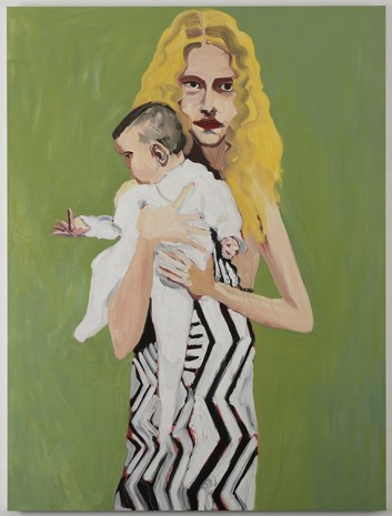 Chantal Joffe, BLONDE WITH A BABY , 2012, Cheim & Read