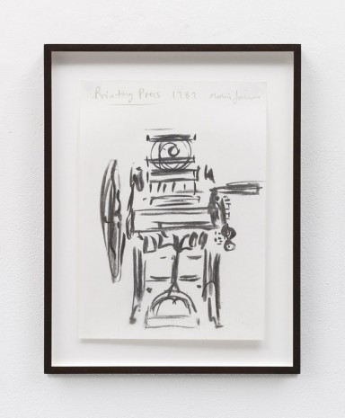 Merlin James, Printing Press, 1989 , Kerlin Gallery