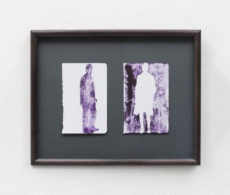 Elizabeth Magill , purple and white silhouette, undated , Kerlin Gallery