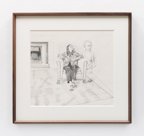 Stephen McKenna , Interior with two figures, 1970 , Kerlin Gallery