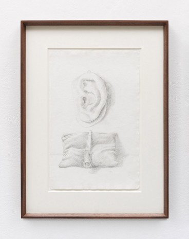 Stephen McKenna , Still life with sculpture of ear and cushion with sword, 1978 , Kerlin Gallery