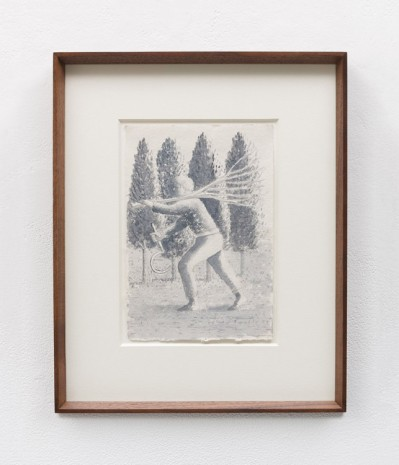 Stephen McKenna , Male figure holding branch of tree and scythe, 2007 , Kerlin Gallery
