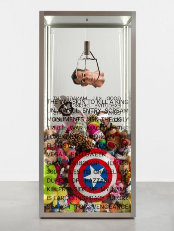Kathryn Andrews, American Claw Game (Good Kill Management Executive Decision The Gunman Dead Presidents Red Dawn Captain America True Lies Soldier Soldier The Campaign Delivery Man Born Free License to Kill Man Down The World is Not Enough..., 2019, König Galerie