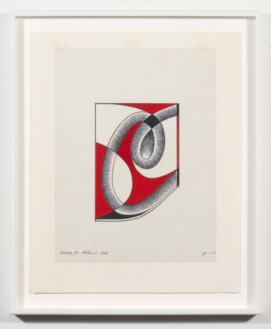 Judy Chicago, Study for a Letter C #1 , 1977, Galerie Barbara Thumm