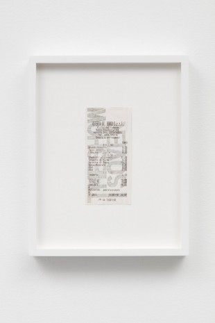 Jonathan Monk, Restaurant Drawing (CW the show), 2018, Casey Kaplan