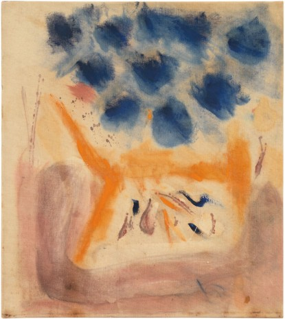 Helen Frankenthaler, With Blue, 1953 , Gagosian