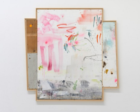 Yves Oppenheim, Abstract painting with low horizon, 2019 , Galerie Max Hetzler