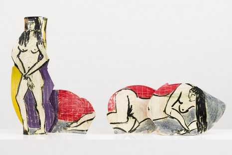 Betty Woodman, His and Hers Vases: Life Drawing, 2008 , David Kordansky Gallery