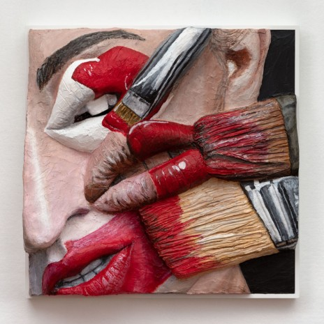 Gina Beavers, Eye with Painter's Lips, 2019 , Marianne Boesky Gallery