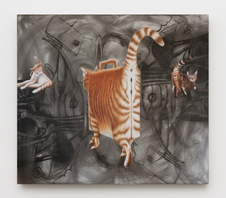 Jim Shaw, Briefcase Cats, 2019 , Praz-Delavallade