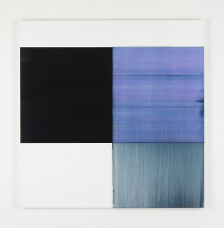 Callum Innes, Exposed Painting Blue Violet Red Oxide, 2019, Kerlin Gallery