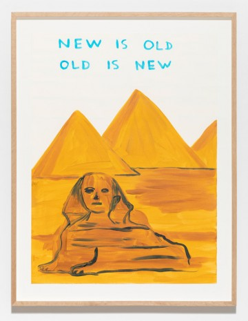 David Shrigley, Untitled (New Is Old Old Is New), 2019, Galleri Nicolai Wallner