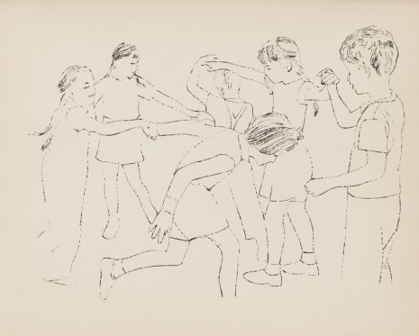 Andy Warhol, Children Playing Ring Around the Rosie (Happy December), 1954 , Galerie Buchholz