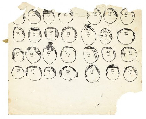 Andy Warhol, Heads, ca. 1954, Galerie Buchholz