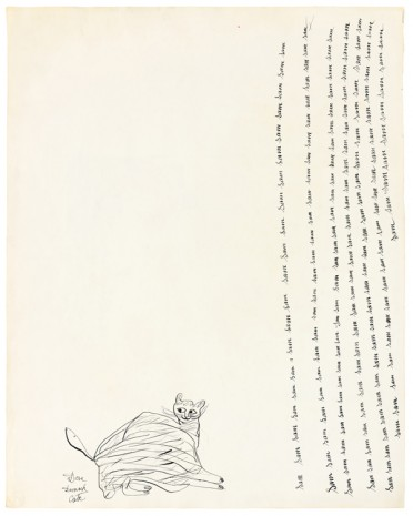 Andy Warhol, Untitled (Cats) (verso); Untitled (Rose) (recto), ca. 1954, Galerie Buchholz